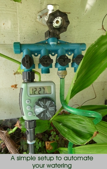 drip irrigation manifold for one line