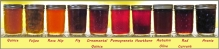 A row of unusual jams